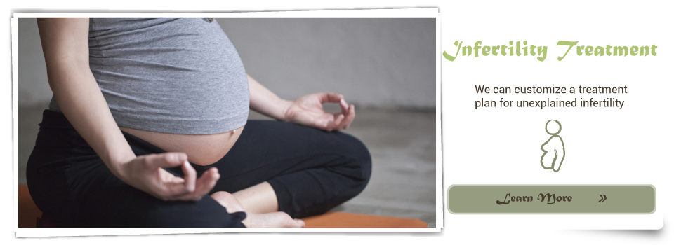 pregnant woman doing yoga- Infertility Treatment We can customize a treatment plan for unexplained infertility Learn More
